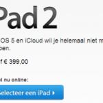 iPad 2 is nu reeds goedkoper in de Apple Store