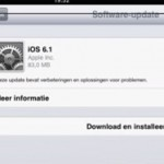 iOS6.1 is nu beschikbaar