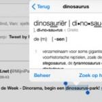 iOS7; Zoek je een definitie van een woord - voeg Prisma woordenboek toe