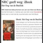 Gratis iBook van Jan van Aken bij NRC (voor je email-adres)