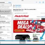 iOS8 - email concept even 'opzij zetten'