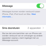 SMS-en met je iPad (via je iPhone)
